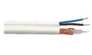 Przewód RG59 zintegrowany z zasilaniem (100m)